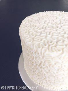 Cornelli lace piped mini wedding cake replica - anniversary cake - buttercream cornelli lace     Www.facebook.com/tinykitchencakery