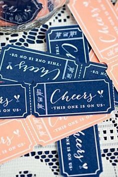 Instead of an open bar, have drink tickets for each guest. You can print them here!