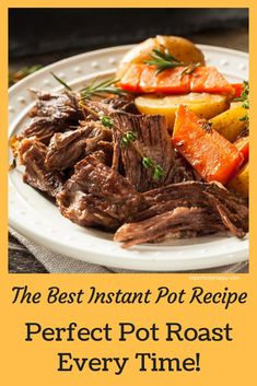 Instant Pot Pressure Cooker Pot Roast The BEST Instant Pot Recipe for the Perfect Pot Roast Every Time!<br> This herb-infused pressure cooker pot roast, made in the Instant Pot, is sure to be the best roast you've ever made or eaten! Rump Roast Recipes, Rib Roast Recipe, Pressure Cooker Pot Roast, Instant Pot Pressure Cooker, Slow Cooker, Best Instant Pot Recipe, Instant Pot Dinner Recipes, Instant Pot Pot Roast, Instant Pot Recipe For Pork Roast