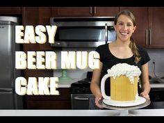 Beer Mug Cake   CHELSWEETS - YouTube