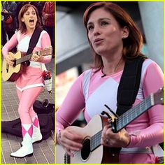 Amy Jo Johnson, the original Kimberly Hart/The Pink Ranger in Power Rangers back in 1990s, performed in Toronto after reaching her Indiegogo funding goal for a film she's directed (her first), The Space Between. Source