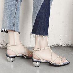 Strange Style Buckle Strap Sandals