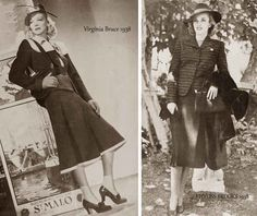 Virginia Bruce and Phyllis Brooks - 1930s fashion