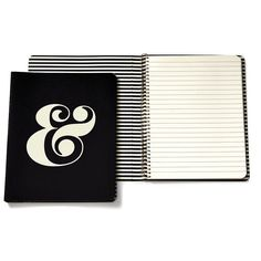 Kate Spade New York Ampersand Spiral Notebook (960 RUB) ❤ liked on Polyvore featuring home, home decor, stationery, apparel & accessories and no color