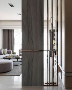 The Top 43 Best Room Divider Ideas - Interior Home Design Foyer Design, Divider Design, Wall Design, House Design, Divider Ideas, Living Room Divider, Living Room Partition, Room Partition Designs, Partition Screen