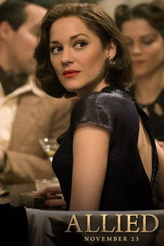 Marion Cotillard stars in Robert Zemeckis' new film Allied. See it November 23rd. ALLIED is the story of intelligence officer Max Vatan (Pitt), who in 1942 North Africa encounters French Resistance fighter Marianne Beausejour (Cotillard) on a deadly mission behind enemy lines. Reunited in London, their relationship is threatened by the extreme pressures of the war. Costume designs by Joanna Johnston. For more fashion from Allied Movie, follow us NOW!