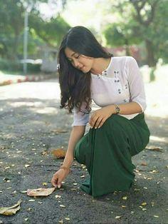 Most Beautiful Faces, Beautiful Ladies, Girl Photos, My Photos, Burmese Girls, Myanmar Women, Beautiful Girl Photo, Bicycle, Teacher