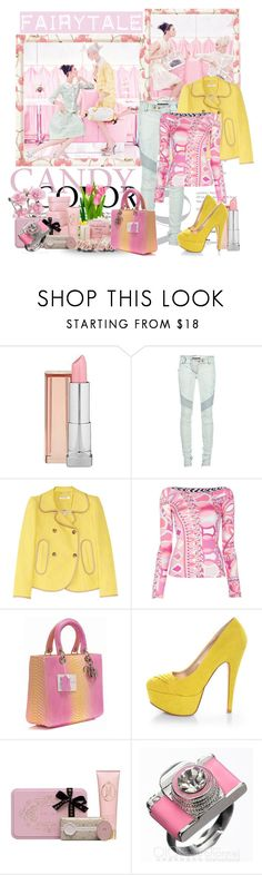 """Untitled #231"" by corni-co-te-bravi ❤ liked on Polyvore featuring Louis Vuitton, Maybelline, Balmain, Carven, Emilio Pucci, Qupid, MOR Cosmetics, emilio pucci, yellow and dior handbag"