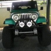 Smile!! Here is my 1985 Jeep CJ7 with a Short Block Chevy 350 V8. It also has an ATLAS 4-SPEED, and YOKO 38-20 MOTO METAL SKULZ! I have yet to do any hardcore