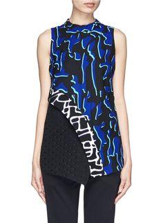PROENZA SCHOULER - Asymmetric panel sleeveless top | Multi-colour Vests/Tanks Tops | Womenswear | Lane Crawford