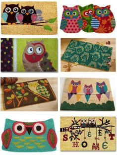 My Owl Barn: Collection: Owl Doormats