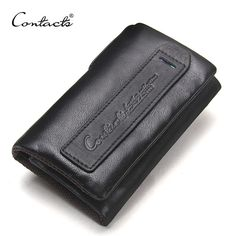 Buy now CONTACT'S 2017 NEW Small Wallet Men Genuine Leather Wallets Brand Trifold Design With Interior Key Chain Holder Fashion Coin Bag just only $13.98 with free shipping worldwide  #walletsformen Plese click on picture to see our special price for you