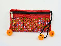 Red hand embroiede clutch bag,Sindhi embroidery bag,Handmade bags,Clutches,Evening bags,Banjara bags,Vintage Fabric bags,Pouches,Handbags by ZsTribalTreasures on Etsy