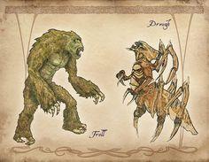 Troll and Dreugh by Bethesda at elderscrolls.com