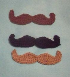 Crochet mustache. I'm gonna put one of these on a bearded hat.
