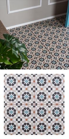 Use these geometric, porcelain tiles to create a vibrant feature area in your home. Trellis Agadir tiles are have a colourful arabesque style design, remeniscent of a kaleidoskope;  making a great statement floor or wall in your chosen room. These tiles are pre-score tile and have an anti-slip surface. As part of our Trellis Tile collection, they have a soft matt finish and are suitable for all areas throughout your home - whether you're tiling the kitchen, living room, en suite or bathroom.