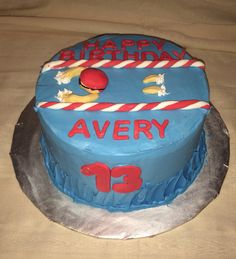Swimmer birthday cake