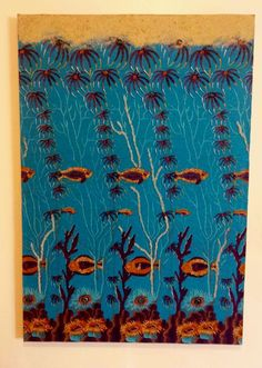 Caribbean Sea - Eclectic Walls The Caribbean Sea comes to life on your wall with this shimmering piece of mixed media wall art comprised of printed African wax fabric adorned with glass beads, and sand mounted on a wood frame. Media Wall, Plastic Beads, Caribbean Sea, Glass Beads, Mixed Media, Wax, Arts And Crafts, African, Wall Art