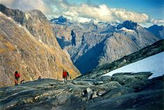 Gertrude Saddle - Near Barrier Knob Darran Mountains  Fiordland National Park  New Zealand