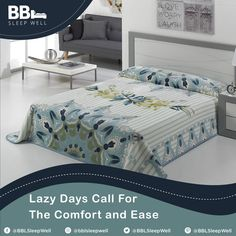 Lazy days call for the comfort and ease.  #BBL #Luxury #BedBlankets #homedecor #onlinehomeshop #bedroomideas #bedding #bedroomdecor #bedroominspo #bedroomgoals #dreambedroom #bedroom #bed #bedroomtransformations