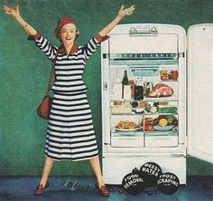 By request… At last! I'm free… frost free! Vintage Advertisements, Vintage Ads, Vintage Photos, Bored Housewives, Desperate Housewives, Vintage Kitchen Appliances, Frost Free, Retro Fridge, Kitchen Must Haves