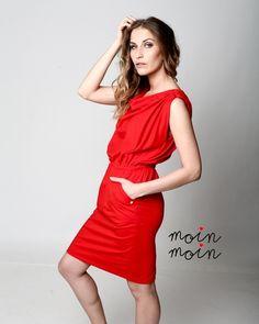 """♥ Jerseykleid """"Stockholm"""" ♥ ROT von moinmoin auf DaWanda.com"""