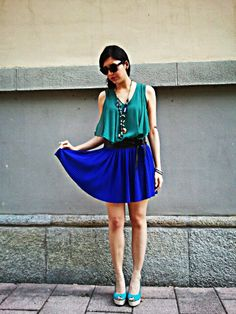 Shades of blue  http://thefashionprincessblog.blogspot.it/