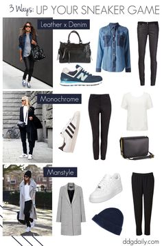 Sneaker street style: How to up your sneaker game 3 ways | what to wear fashion daily uncategorized sole mates feature fashion daily casual friday pictures