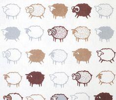 1 YD - Baa Baa Black Sheep Fabric - Brown and White - Kiyohara Japanese Fabric Sheep Fabric, Baa Baa Black Sheep, Shepherds Hut, Sheep And Lamb, Sewing Material, Japanese Fabric, Fabulous Fabrics, Baby Quilts, Cotton Linen