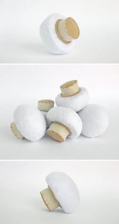 Felt Food Mushroom 1 pc Realistic Toy Pretend Play Food by MyFruit