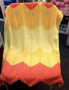 Ravelry: Cozy Chevron Blanket pattern by Molly Conroy