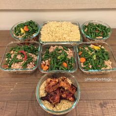 This weeks prep includes turkey, sweet potato, green beans, mixed veggies, quinoa, and chicken thighs!  - Download @mealplanmagic to take complete control over what you feed your body so that you start seeing the results you've been after.