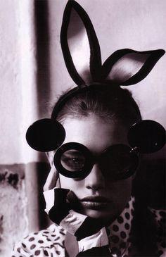 Russian supermodel Natalia Vodianova shot by Mario Testino for Vogue UK May 2008 issue.