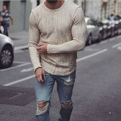 This knitted thermal and these ripped jeans are perfect for a cool spring afternoon. There isn't much more time to wear this style as summer is approaching!     #fashion #style #fashionblog #fashiondiaries #fashiondaily #fashionbloggers #fashionblogger #mensfashion #menstyle #mensstyle #menswear #plannr #menwithstyle #mensfashion  #barber #hairstyle #menshair #hairstyles #clothing #streetfashion #dapper #styleblogger #styles #styleblog #fit