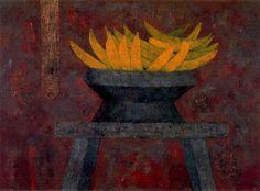 Rufino Tamayo - Plátanos. 1975. Óleo sobre tela.
