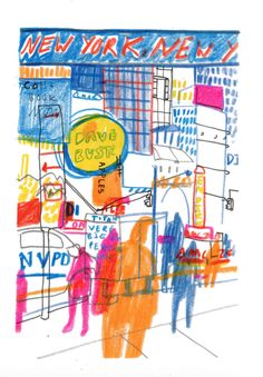 New york drawings - Charlotte Ager illustration