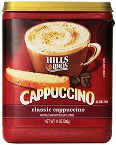 Hills Bros Classic Cappuccino Canister Pack of 3 -- For more information, visit image link. (This is an affiliate link and I receive a commission for the sales) Gourmet Food Store, Gourmet Recipes, Bad Room Ideas, Double Espresso, Italian Coffee, Coffee Corner, Instant Coffee, American Food, Mixed Drinks