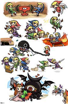 The Legend of Zelda: Four Swords | Links, Princess Zelda, and etc. / Zelda: Four swords dump by KIRU75 on deviantART
