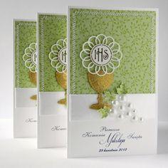 Artis handmade / izabellw - kartki ślubne, okolicznościowe,zaproszenia, pamiątki, albumy, notesy: Zaproszenia Komunijne 2