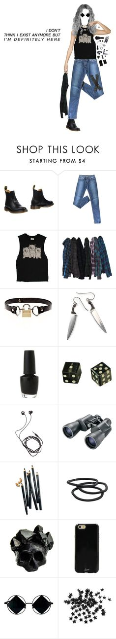 """doesn't mean i like it"" by xievas ❤ liked on Polyvore featuring Dr. Martens, Prada, Rodarte, OPI, Diane Von Furstenberg, Bushnell, Bobbi Brown Cosmetics, Goody, Macabre Gadgets and Sonix"