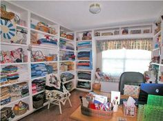 Sewing room ideas on pinterest 296 pins for Quilt room design ideas