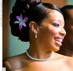 African American Wedding Updo
