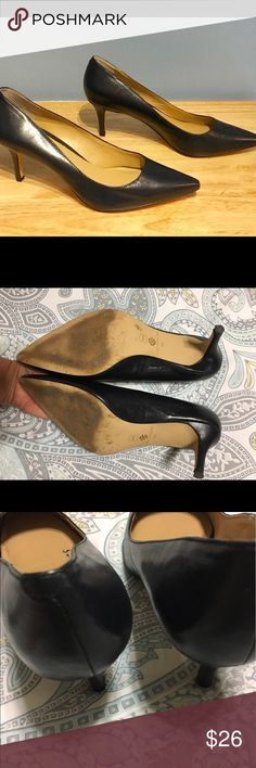 Ann Taylor heels Gorgeous black hells from Ann Taylor very good condition bought them for my son's graduation some wear on bottom for walking in concrete just one night shows some peeling (small) from the inside please check the last pics! Ann Taylor Shoes Heels