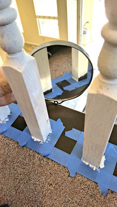How to Refinish a Wood Banister with chalk paint