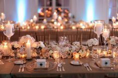 Beautifully lit dining area for a romantic themed wedding