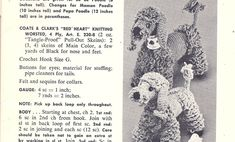 Here's papa, mama and baby.  And no, not bears, but Poodles.  There a sweet little stuffed dogs to be crocheted and loved.      I found thes...