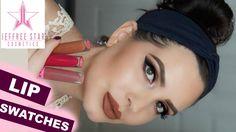 NEW Jeffree Star Velour Liquid Lipstick LIP SWATCHES | LEO, ANDROGYNY, M...