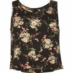 FULL TILT Ditsy Floral Print Girls Swing Tank size small