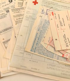 Excited to share this item from my #etsy shop: 30 Vintage French 1970's Receipts Pages, Assorted Pages, Vintage French Ephemera, Vintage French 1970's Papers, Journaling Papers