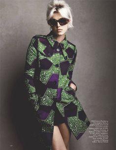 "Agyness Deyn "" Be so Bold "" by Patrick Demarchelier Vogue UK January 2012"